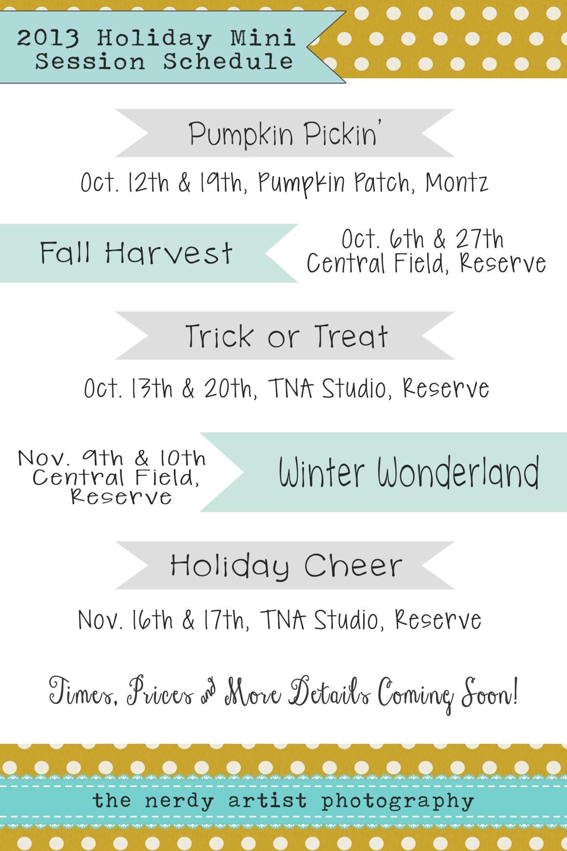 2013 Mini Dates